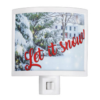 Let it Snow Winter Holiday Christmas Night Light
