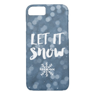 Let It Snow | Winter Night Bokeh Snowflake iPhone 8/7 Case