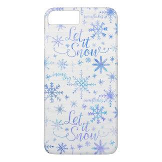 Let It Snow Winter Pattern iPhone 7 Plus Case