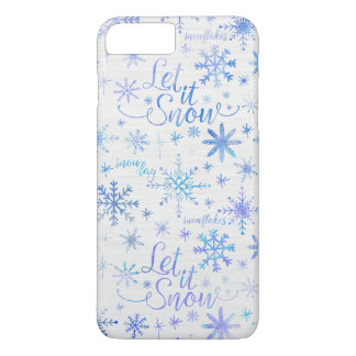 Let It Snow Winter Pattern iPhone 8 Plus/7 Plus Case