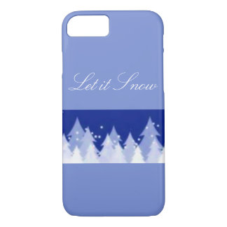 Let it Snow Winter Trees iPhone 8/7 Case