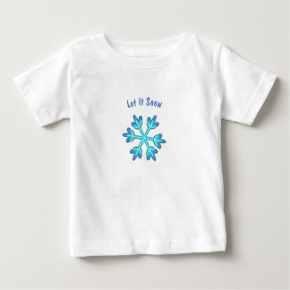 Let It Snow with 3D snowflakes Baby T-Shirt