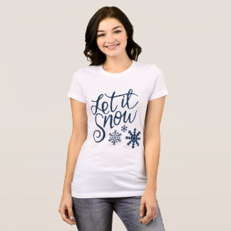 Let It Snow Women's Bella Canvas Jersey T-Shirt