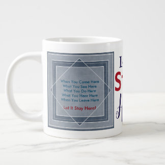 Let It Stay Here Large Coffee Mug
