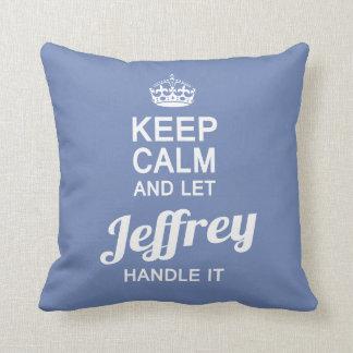 Let Jeffrey handle it! Throw Pillow