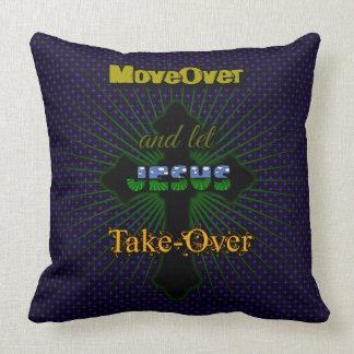 Let Jesus Take Over Throw Pillow