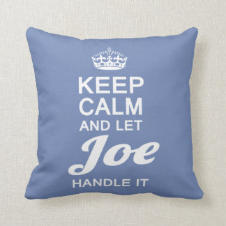 Let Joe handle it! Throw Pillow