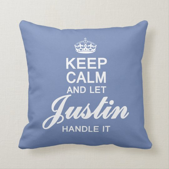 Let Justin handle it! Throw Pillow