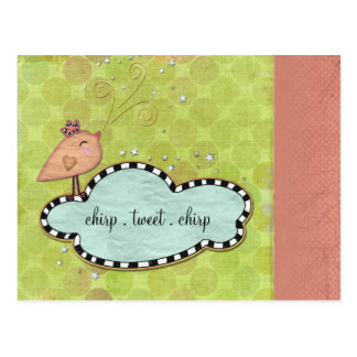 Let Love Chirp Easter Invitation Postcard