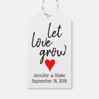 Let Love Grow Customizable Wedding Favor Tag