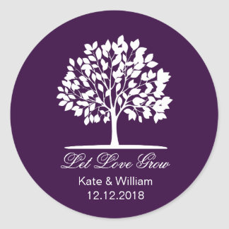 Let love grow favors seeds packet stickers