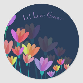 """Let Love Grow"" Party Seed or Plant Favor Sticker"