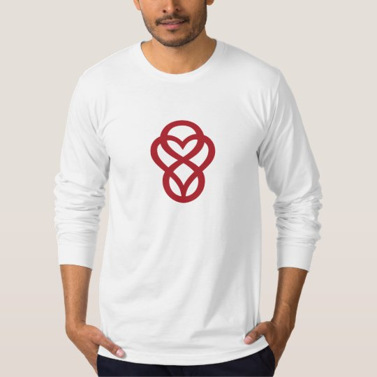 Let Love Out Men's Heather Grey Long Sleeve Tee