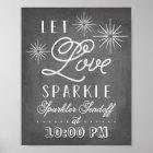 Let Love Sparkle | Sparkler Send Off Poster