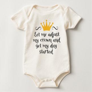 Let ME adjust my crown Baby Bodysuit