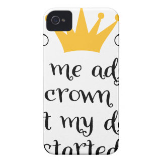Let ME adjust my crown iPhone 4 Case-Mate Case