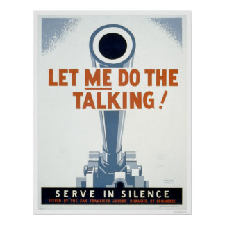 Let me do the Talking Serve in Silence - WPA Print