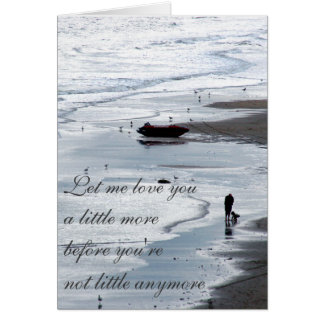 Let me love you Romantic Beach Photo Greeting Card