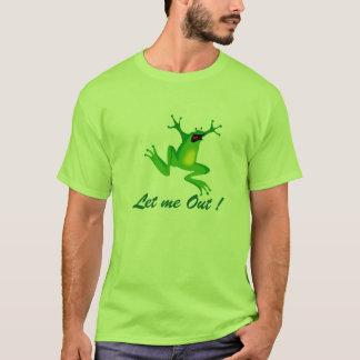 Let me Out cartoon Mens Quality T shirt