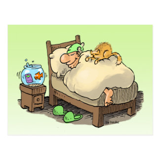 let me sleep longsleeper postcard