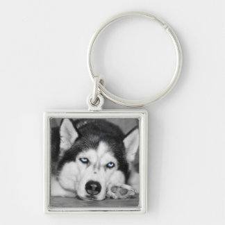 Let Me Sleep Please Silver-Colored Square Keychain