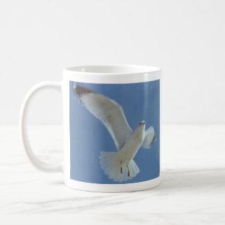 """Let My Spirit Soar"" Bird in Flight coffee mug"