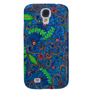 Let Nature Swirl Floral And Leaves Samsung Galaxy S4 Case
