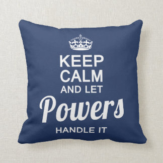 Let POWERS handle It! Throw Pillow