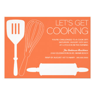 LET S GET COOKING COOK OFF PARTY INVITATIONS