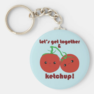 Let's Get Together and Ketchup! Kawaii Tomatoes Keychain