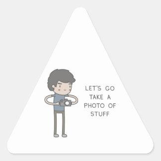 Let's Go Take A Photo Of Stuff Triangle Sticker