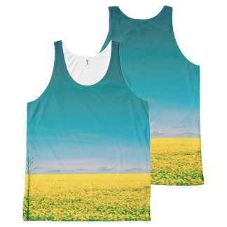 Let's go wait out in the fields All-Over-Print tank top