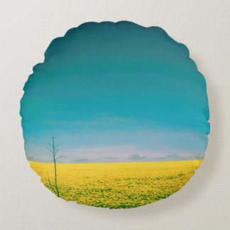 Let's go wait out in the fields round pillow