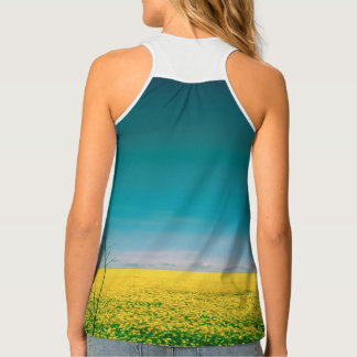 Let's go wait out in the fields tank top
