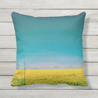 Let's go wait out in the fields throw pillow