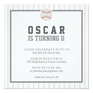 Let's Play Baseball Birthday Party Invitation