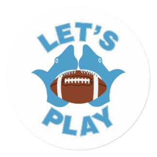 """Let's play football 5.25"""" square invitation card"""