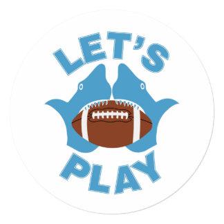 Let's play football card