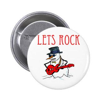 Let s Rock Snowman Buttons