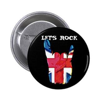 Let s Rock Union Jack Corna Badges