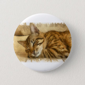 Let Sleeping Cats Lie 2 Inch Round Button