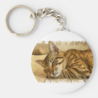Let Sleeping Cats Lie Keychain