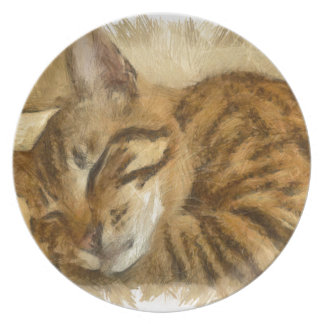 Let Sleeping Cats Lie Plate