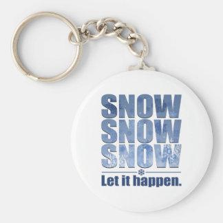 Let Snow Happen Keychain