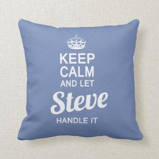 Let Steve handle it ! Throw Pillow