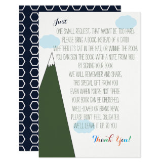 Let the Adventure Begin Baby Shower Book Request Card