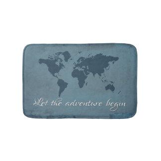 Let the adventure begin bath mat