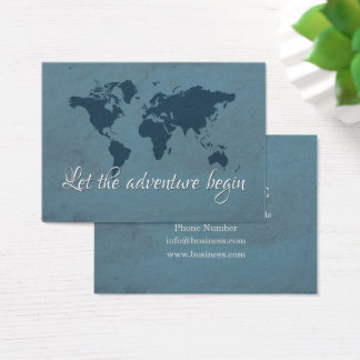 Let the adventure begin business card