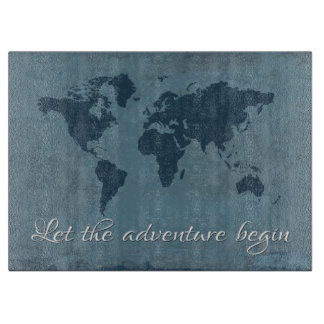 Let the adventure begin cutting board