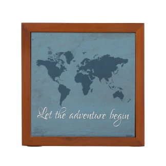 Let the adventure begin desk organizer
